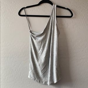 Gray one-shoulder top